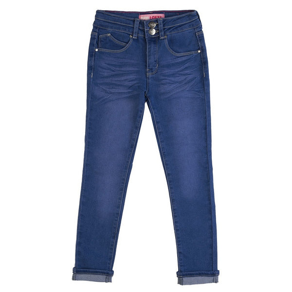 Girl's Super Yummy Denim Wash Jeans - Blueberry
