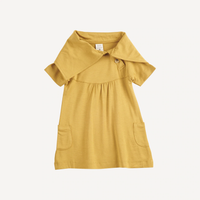 Short Sleeve Lounge Dress - Honey Mustard