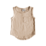 Pocket Tank Top - Sand