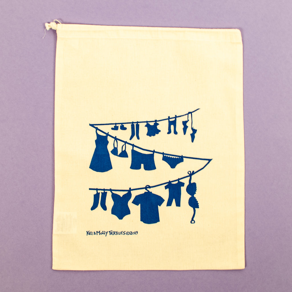 Reusable Cloth Bag: Laundry Line