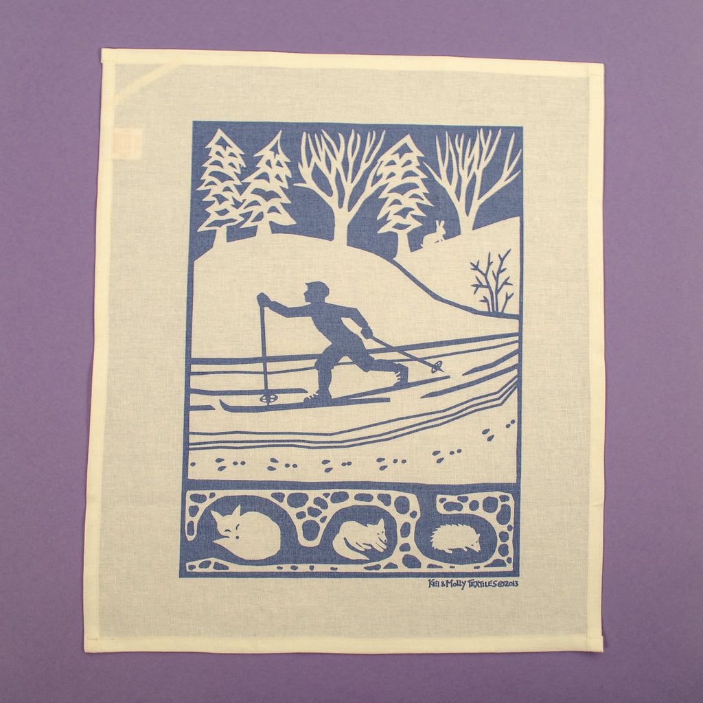 Linen/Cotton Tea Towel: Cross Country