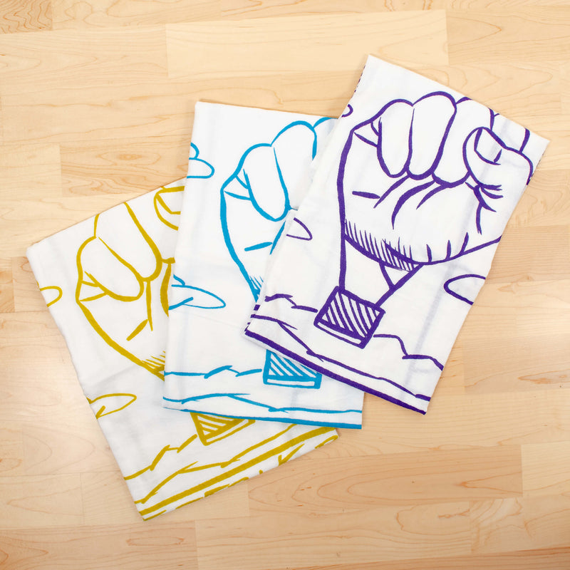 Kei & Molly Black Lives Matter Flour Sack Dish Towel Color Offerings Folded