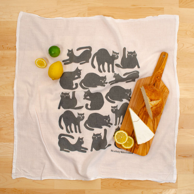 Kei & Molly Cat Lovers Meow Bundle Dish Cloth in Grey