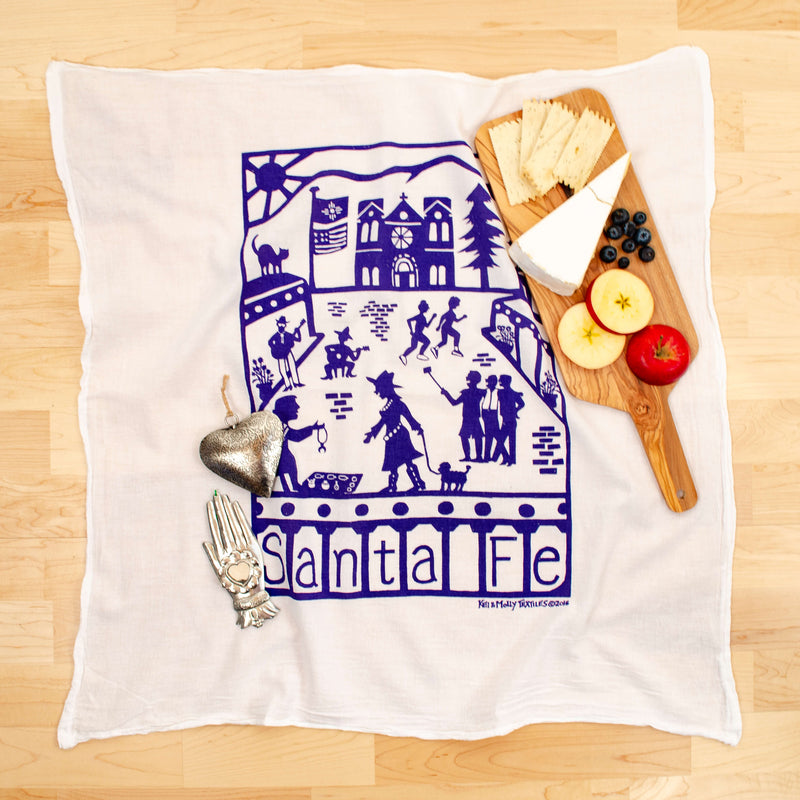 Kei & Molly Santa Fe Flour Sack Dish Towel in Purple with Props