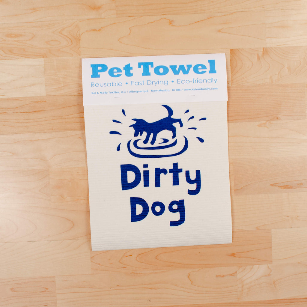 Kei & Molly Dirty Dog Pet Towel in Indigo Full View