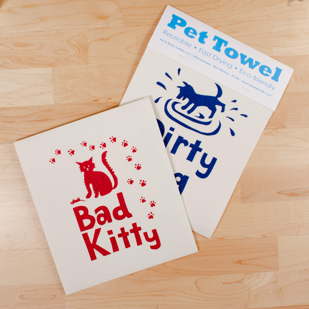 Kei & Molly Dirty Dog and Bad Kitty Pet Towels