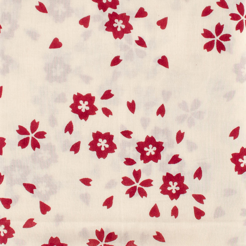 Kei & Molly Scarf in Sakura Design in Wine Red Detail View