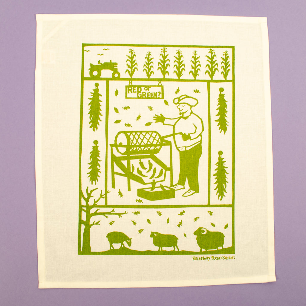 Linen/Cotton Tea Towel: Chile Roaster