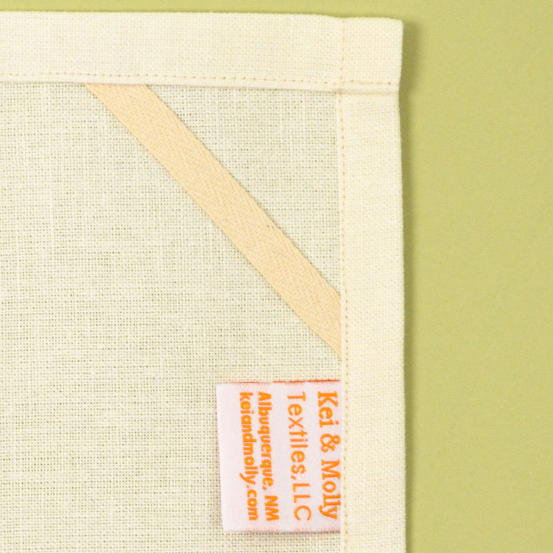 Linen/Cotton Tea Towel: Laundry Line