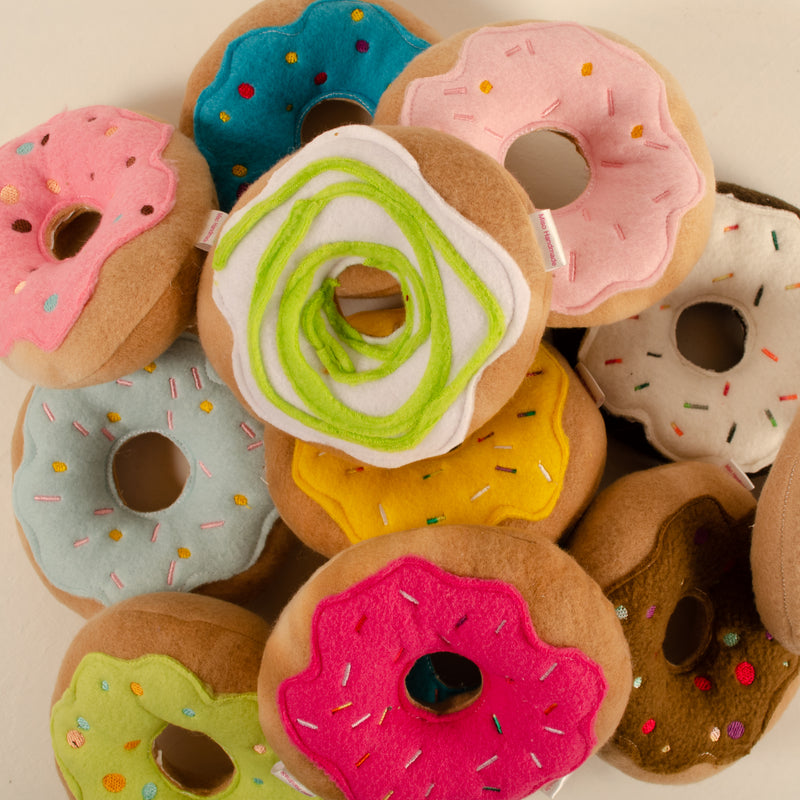 Dog Toy: Felt Donut