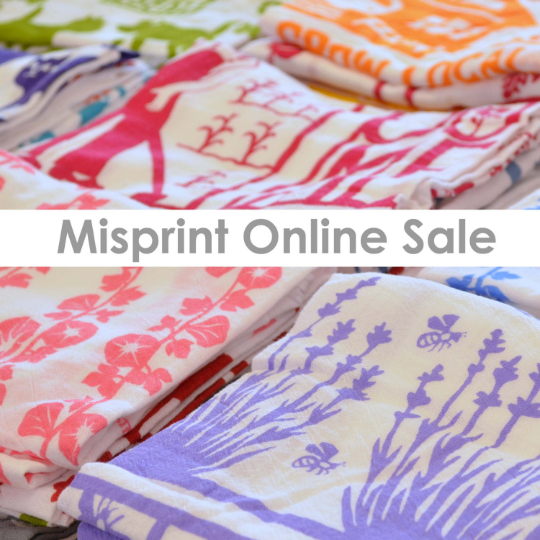 Misprint Flour Sack Dish Towel: Set of 6