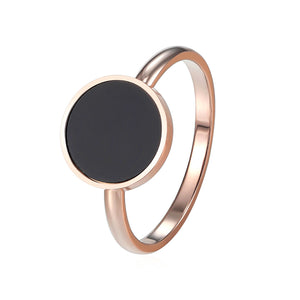 Minimalist Rose Gold Eclipse Ring