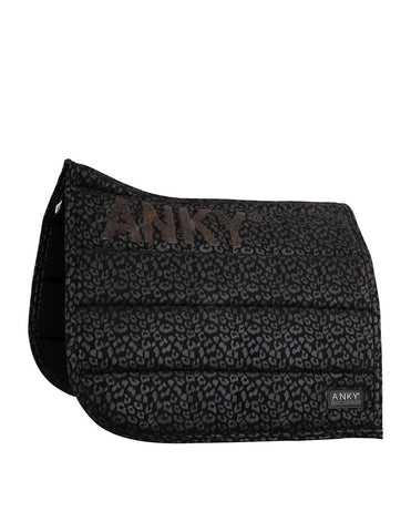 Anky - Black Leopard Print Saddlepad - Dressage