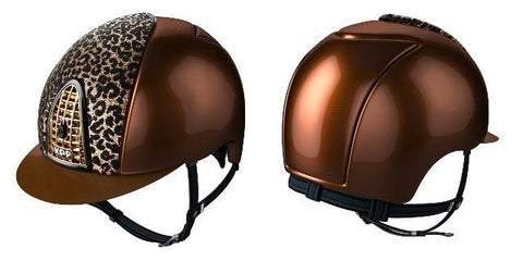 KEP Italia - Bronze Shell Baboon Panel Riding Hat