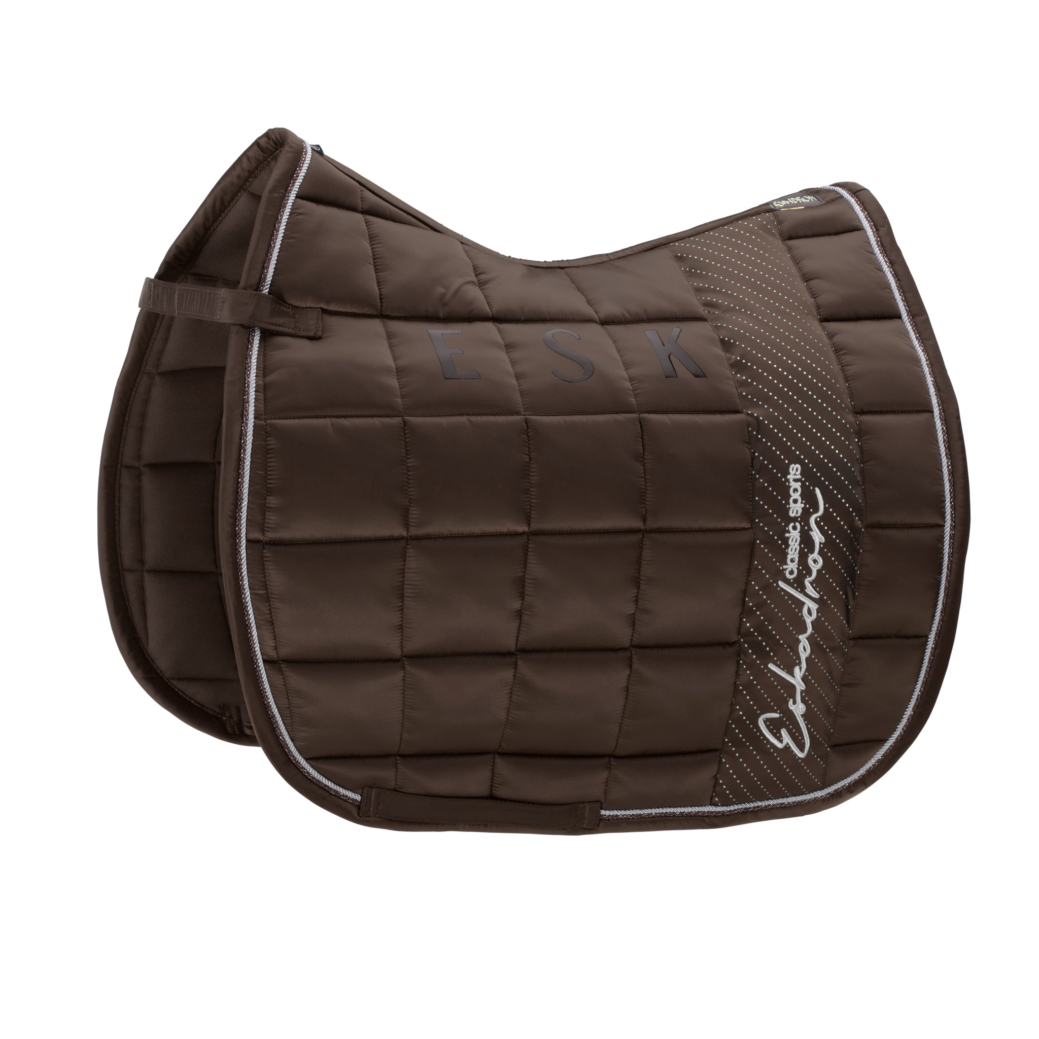 Eskadron Classic Sports SS20 - Glossy Big Square Dressage Saddle Pad - Brown