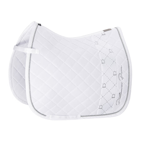 Platinum Pure Mesh Stripe Saddlepad - Dressage White