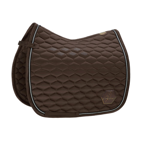 Eskadron Classic Sports SS20 - Glossy Emblem Dressage Saddle Pad - Brown