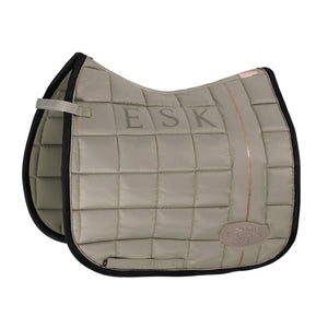 Eskadron Heritage AW20 - Glossy Big Square Saddlepad - Ivory Grey