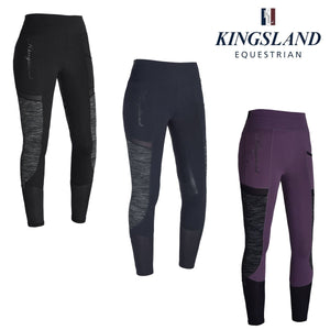 Kingsland Karina full seat leggings (Summer weight) - Black