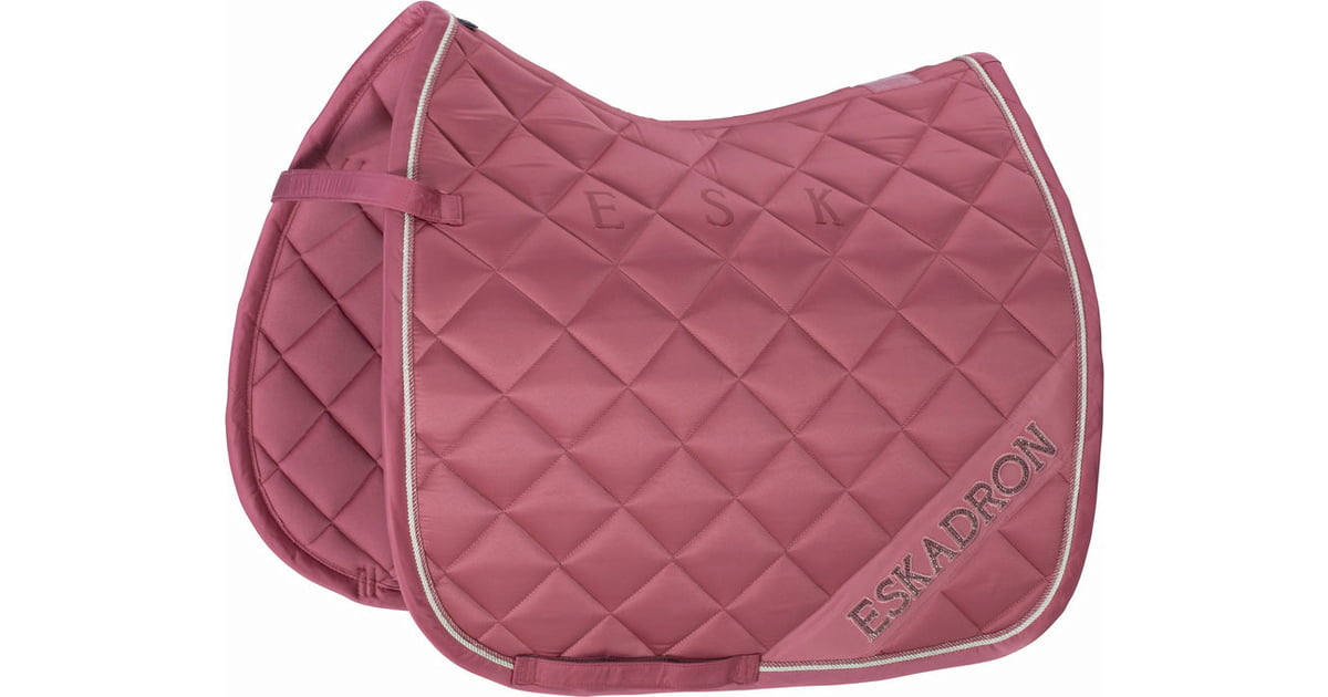 Eskadron - Matt Gloss Diagonal Saddlepad - Dressage Rouge.