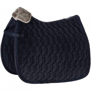 Eskadron - Velvet Saddlepad - Dressage Navy