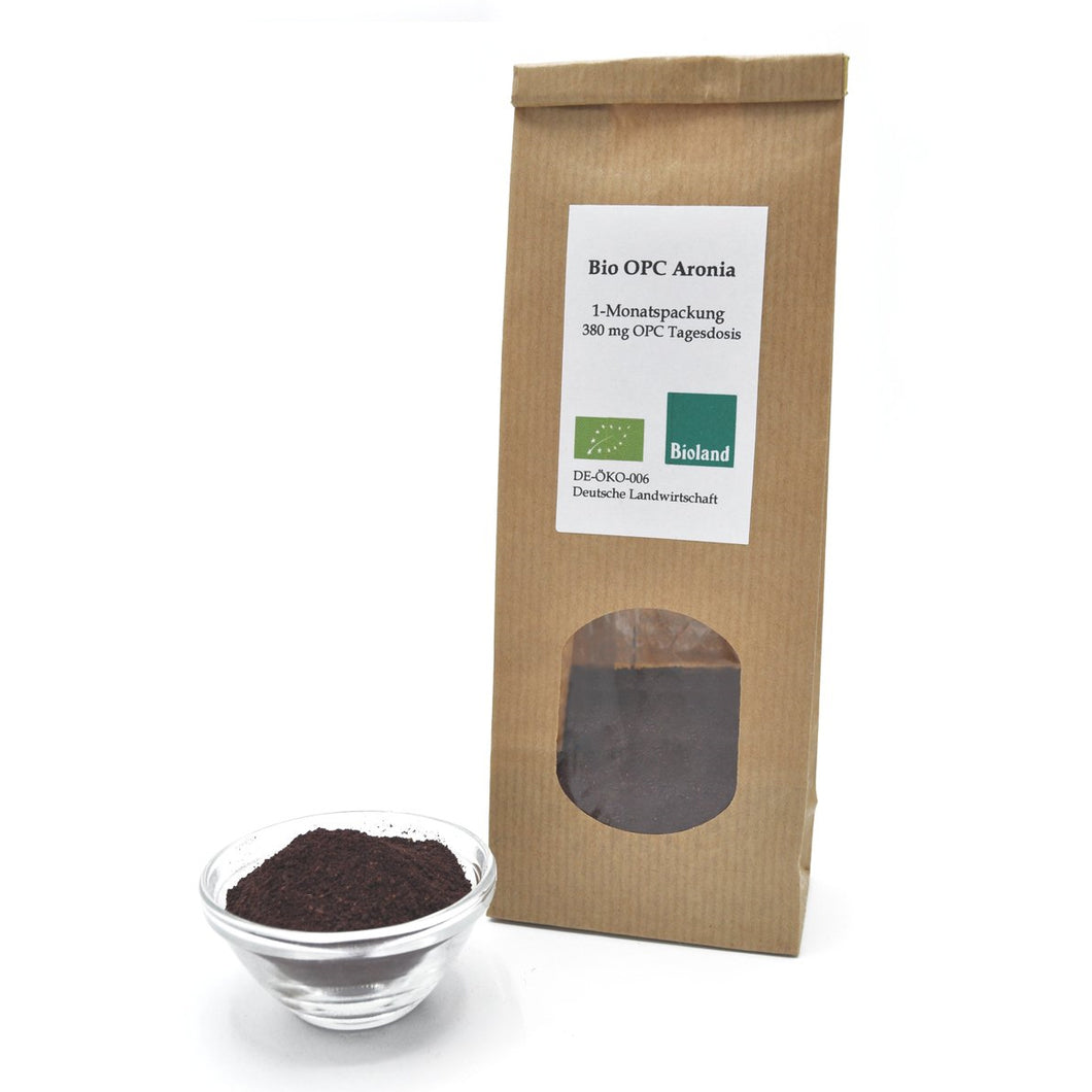 Bio OPC Aronia Powder - from Biohof Stövesandt - from the Lüneburg Heath - 380mg pure OPC daily