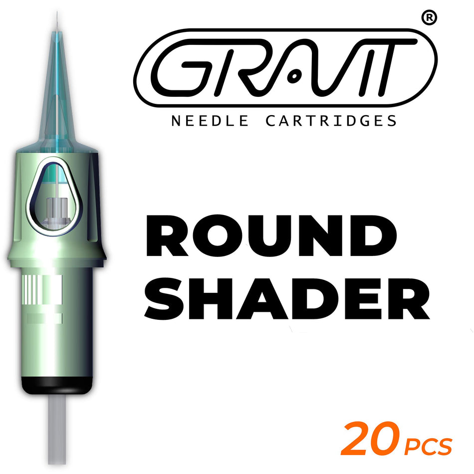 Round Shader | Gravit Needle Cartridges (USA) 1207RS-0.35MM