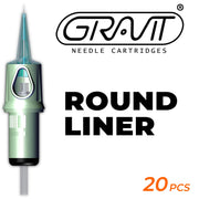 Round Liner | Gravit Needle Cartridges (USA) 0501RL-0.18MM