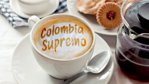 1/2 lb Custom Roasted Colombia Supremo Coffee - Fresh Ground or Whole Bean Coffee - Custom fresh Roasted Coffee made with freshest beans | Kona, Blue Mountain