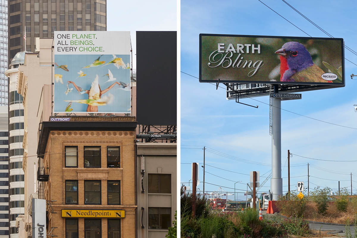 Billboards by Ryan McGinley and Donald Moffett (Global Climate Summit / San Francisco, 2018)