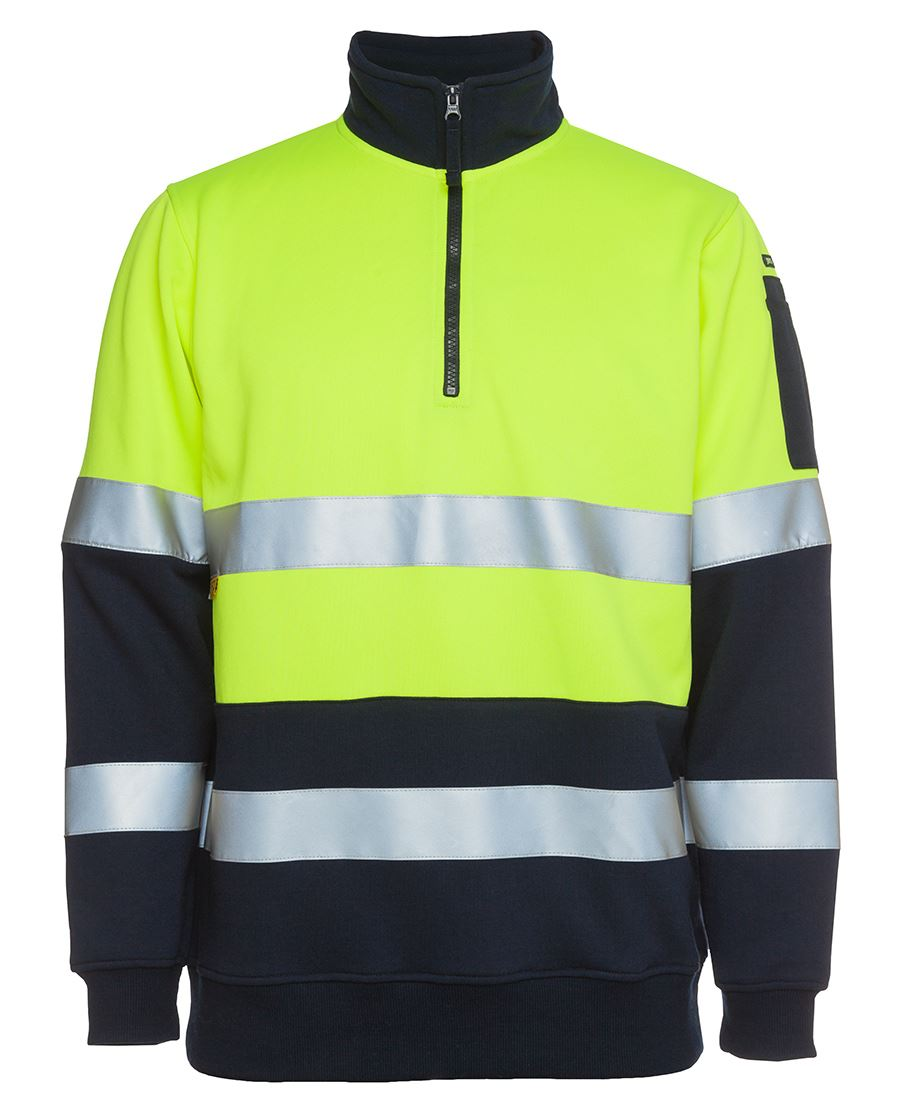 Hi Vis 1/2 Zip (D+N) Fleecy Sweat