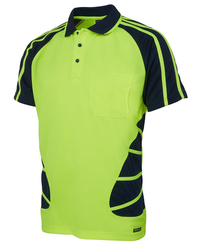 HI VIS S/S SPIDER POLO