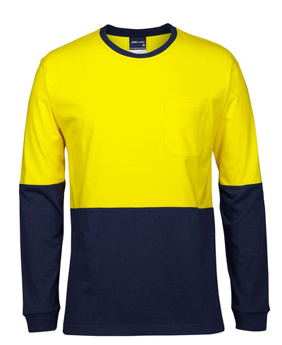 Hi Vis L/S Cotton Crewneck T-shirt