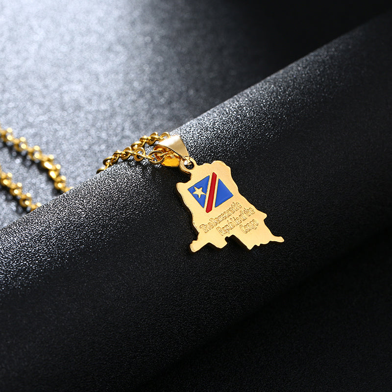Democratic Republic Of The Congo Necklace