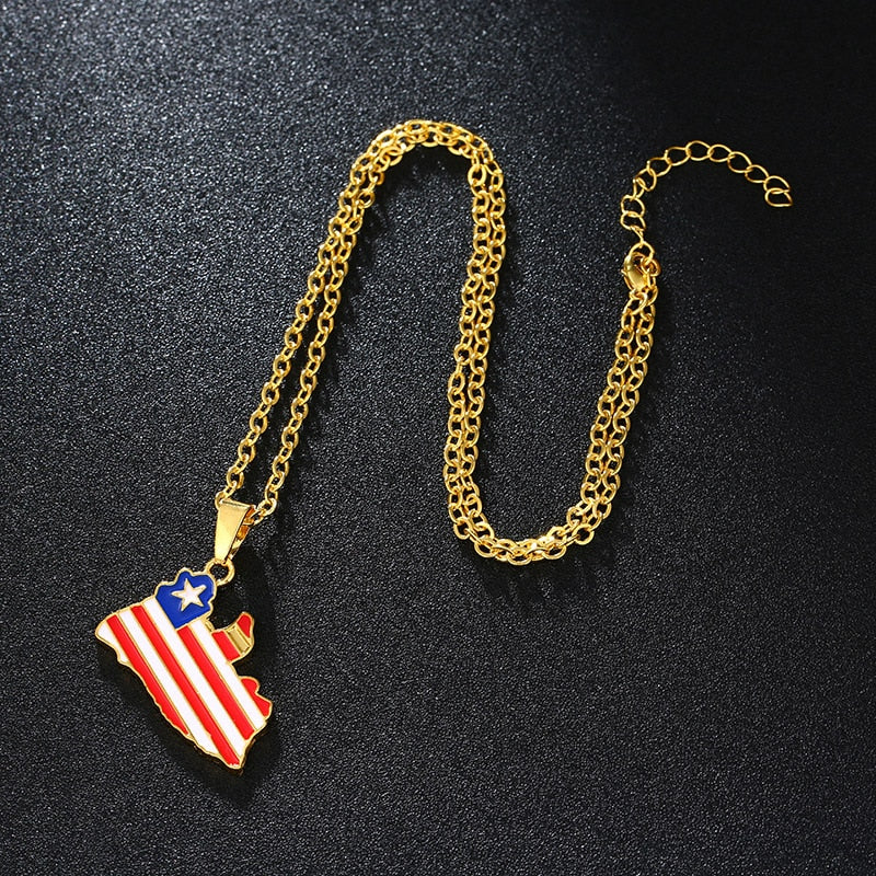Liberia Lone Star Necklace