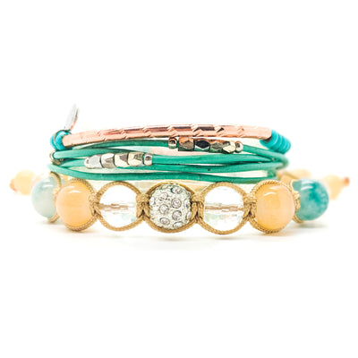 #2 - Rose Gold and Turquoise Bracelet Stack