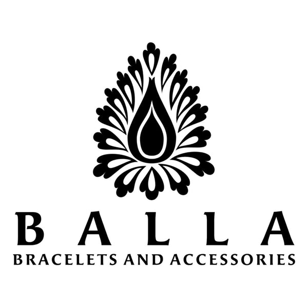 Balla Grace Leather and Silver Bangle with White Austrian Crystal Bead