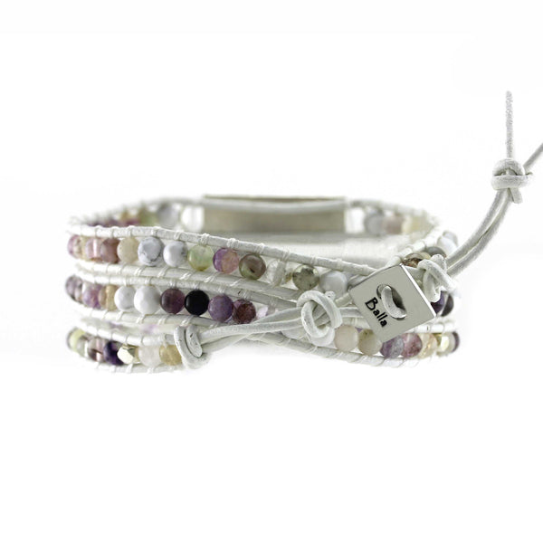 Yogi Life Beaded and Crystal Wrap Bracelet