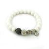 White and Pave Beaded Bracelet