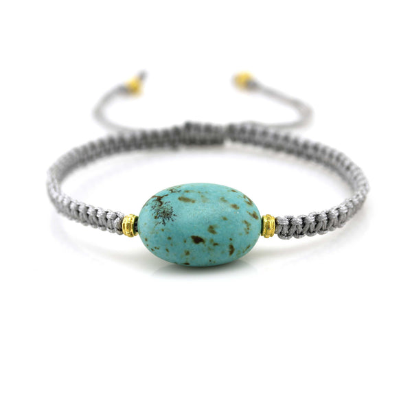 Balla Trendy Turquoise Beaded Bracelet with Adjustable Fit Cord