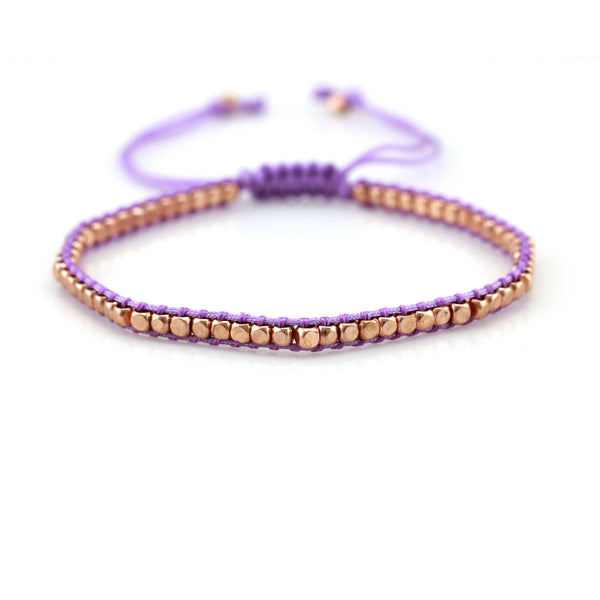 Balla Purple and Rose Gold Theory Bracelet with Adjustable Fit
