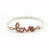 Love Balla Bracelet with Pearl Beads and Rose Gold Lettering