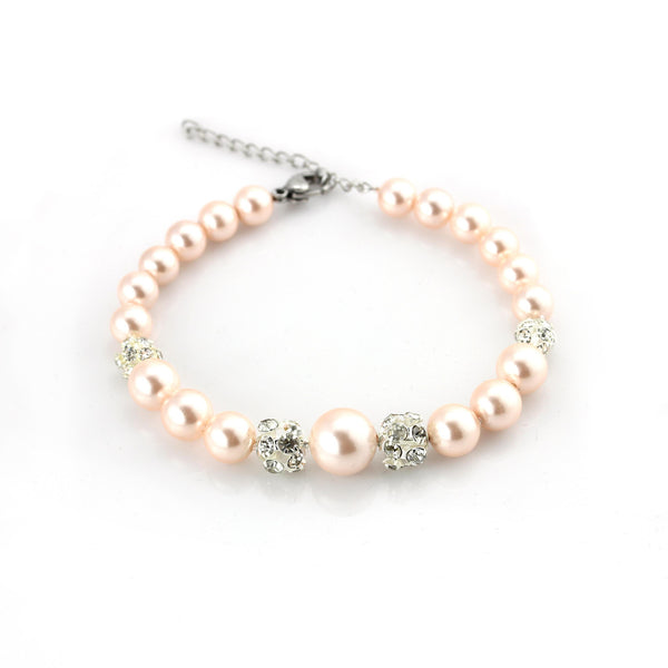 Balla Satori Balla Bracelet with Pink Rose Pearls and Crystal Beads