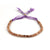 Purple and Gold Slider Bracelet