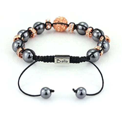 Balla Vinyasa Love Bracelet with Magnetic Hematite and Crystal Beads