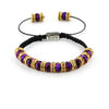 Balla Purple Enchantment Bracelet with Purple and Gold Crystal Beads