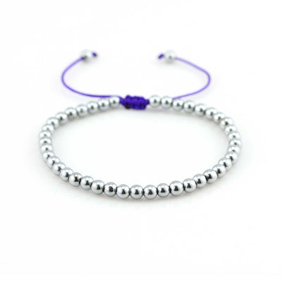 Balla Purple Perfect Unity Bracelet with Silver Hematite Beads