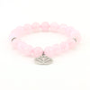 Balla Lovely Lotus Bracelet with Pink Beads and Silver Charm