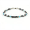 Balla Strength Energy Renewal Bracelet with Blue Crystals and Hematite Beads