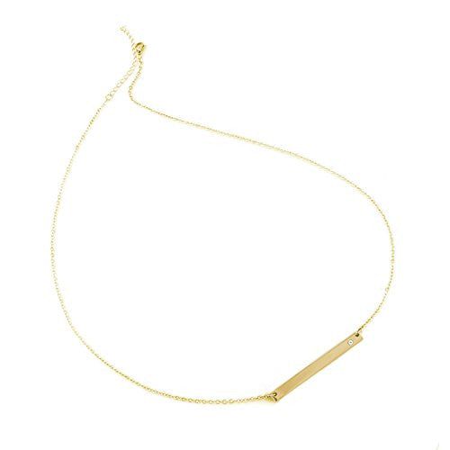 Balla Gold Bar and Golden Chain Necklace with 18